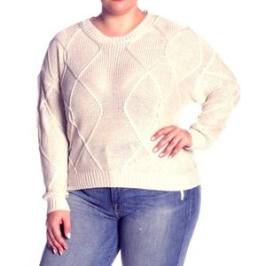 RDI |  Cable Knit Cream Sweater